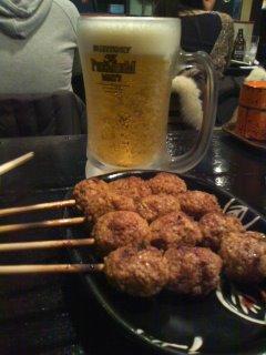 ビールと焼き鳥は